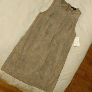 Very J Greyish Tan Suede Dress with Pockets
